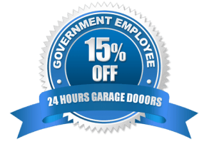 15% Off Government Employee Discount | 24 Hours Garage Doors