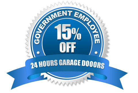 Government Employee Discount Badge | 24 Hours Garage Doors