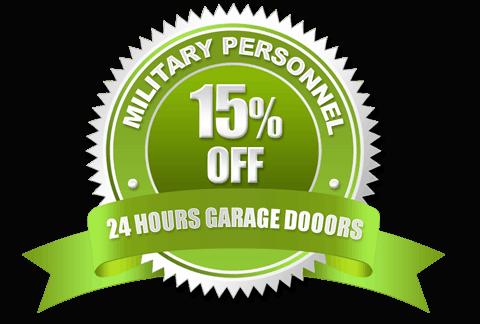 Military Personnel Discount Badge | 24 Hours Garage Doors