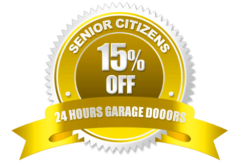 Senior Citizens Discount Badge | 24 Hours Garage Doors