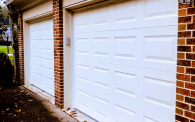 New steel garage doors